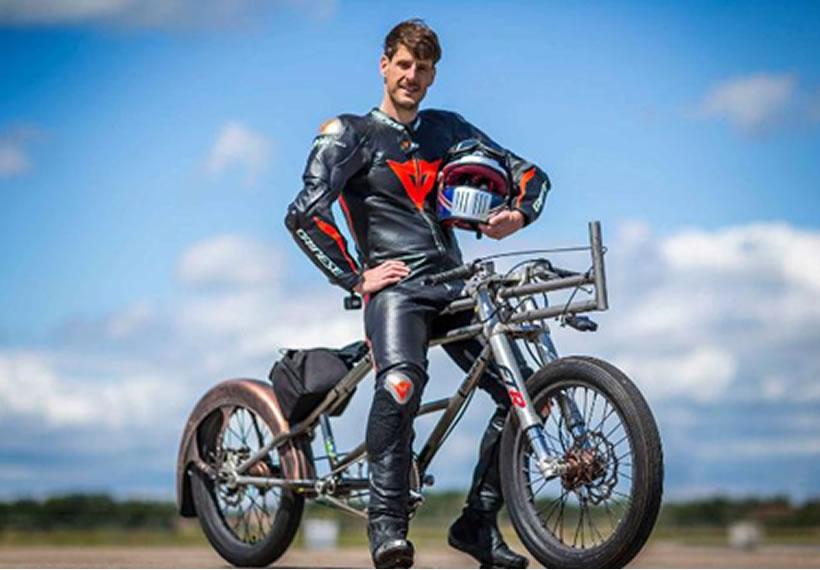 A daredevil broke 24-year cycling speed record, hitting 174 miles per hour
