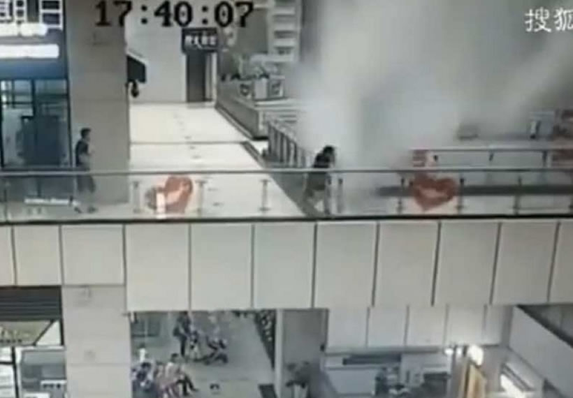 Mall ceiling comes crashing down due to heavy rain