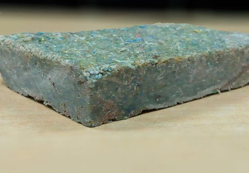 Indian student creates a brick made from recycled plastic