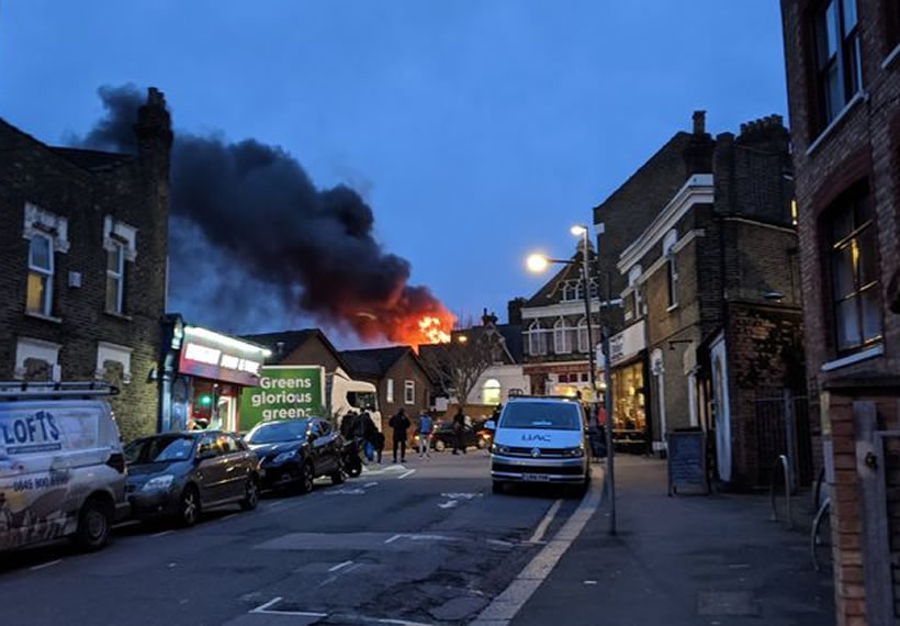 Walthamstow fire: 70 firefighters tackling major blaze at car workshop