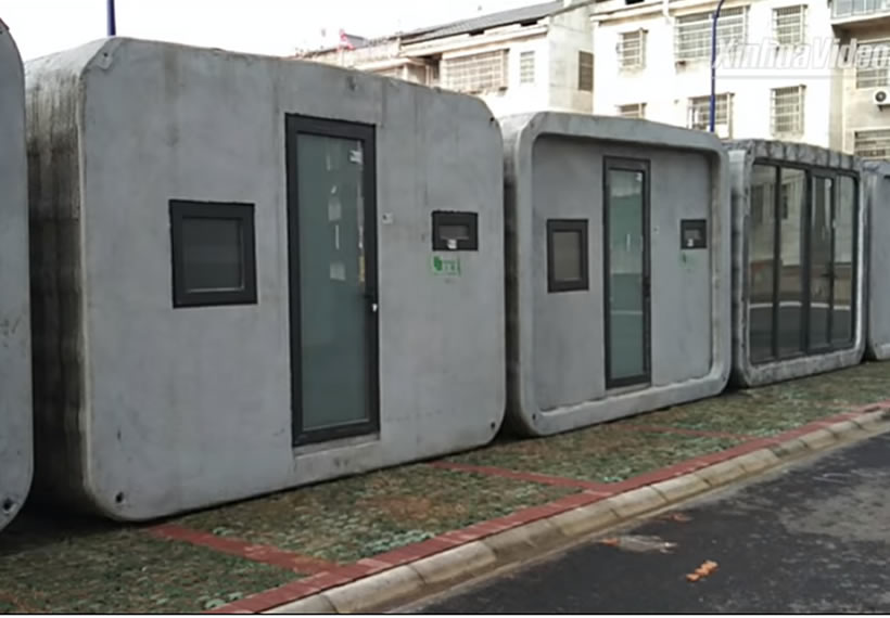 Coronavirus fight: 3D-printed houses installed in hospital in Hubei