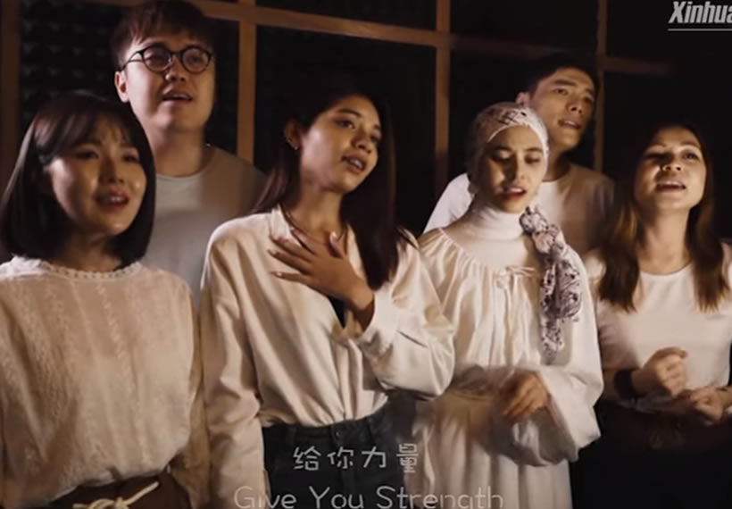 Malaysians create music video to support China