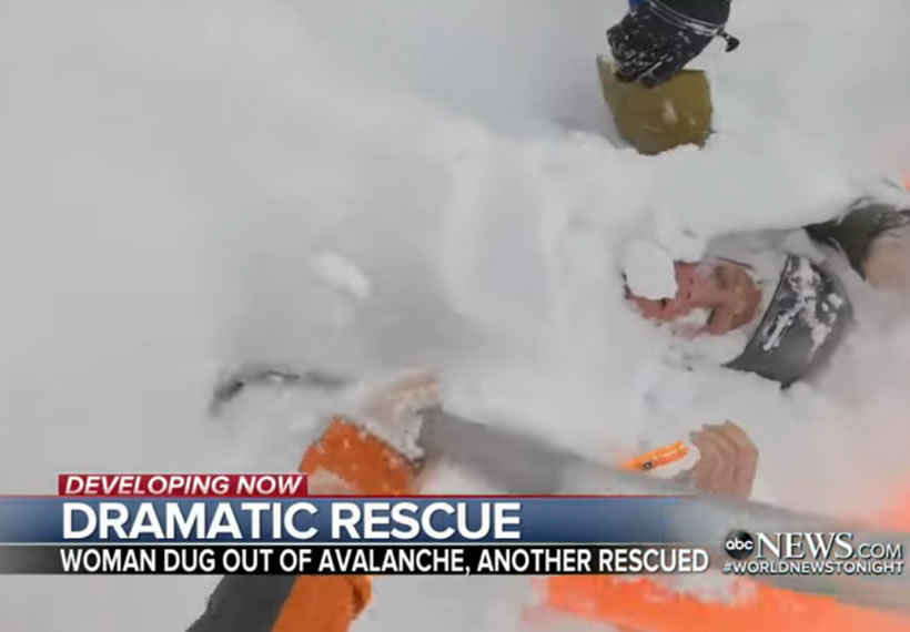 Terrifying video show desperate avalanche rescue