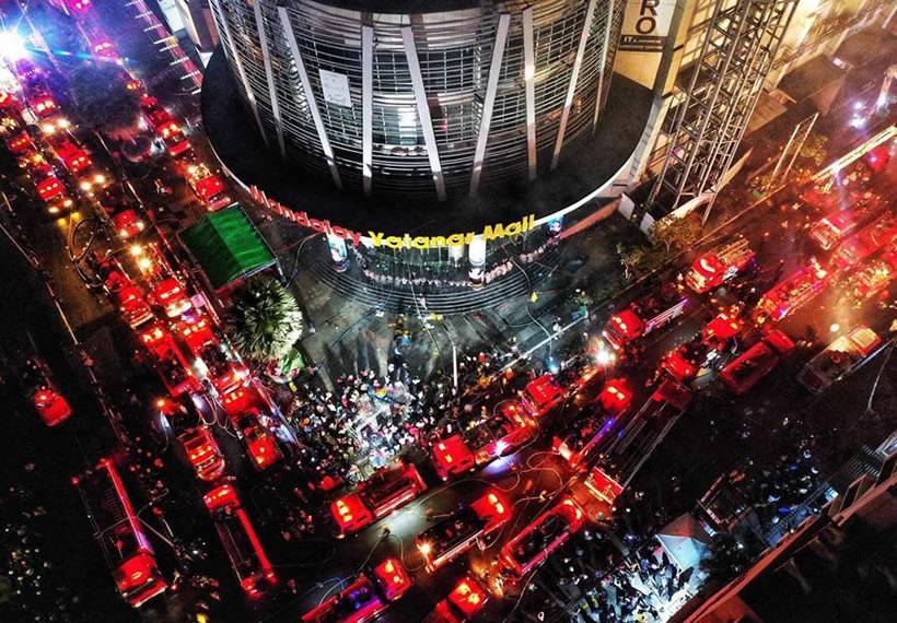 Mandalay Yatanar Mall, Sky Walk on Fire