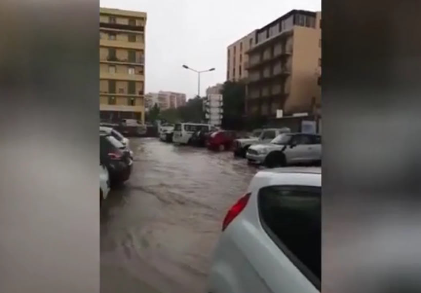 Cars swept away, streets flooded with sewage as Corsica hit by FLASH FLOODS