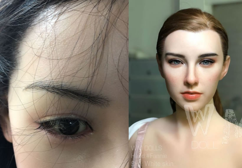Doll with implanted human hair leaves people