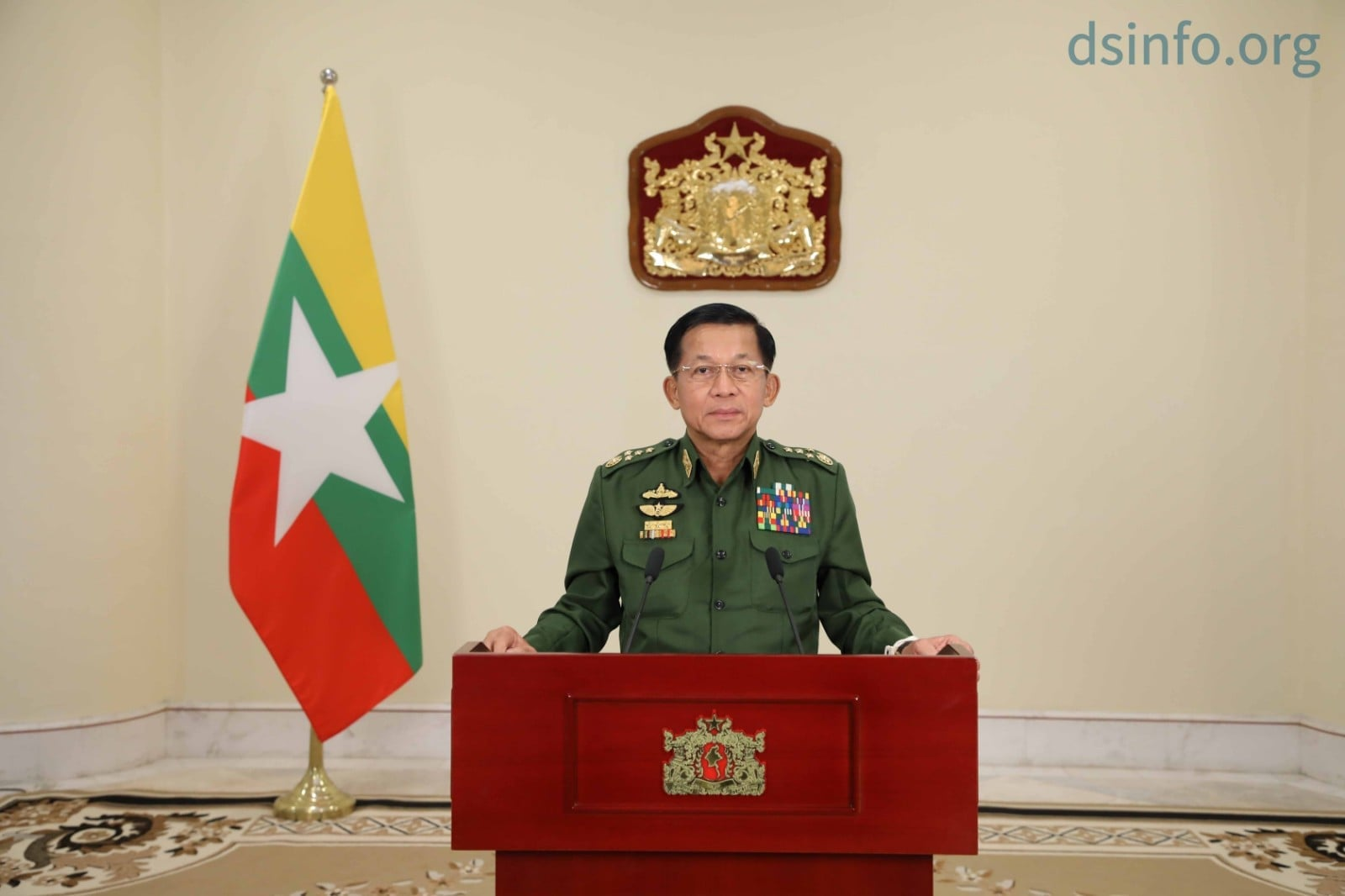 Senior-General Min Aung Hlaing asked the civil servants to return to their workplaces quickly