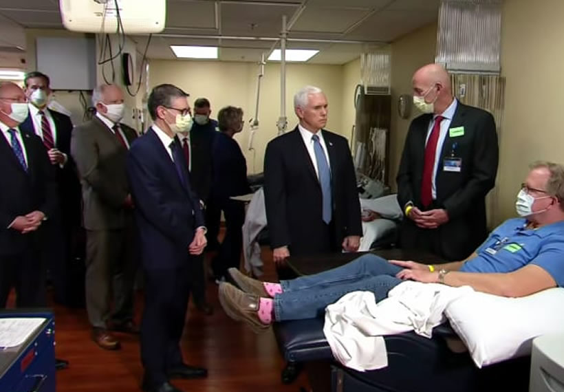 Vice President Mike Pence tours Mayo Clinic without coronavirus mask even though he was told to wear one