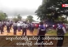 Shot and arrested the log stealing truck in Kyauk Ta Khar Tsp.