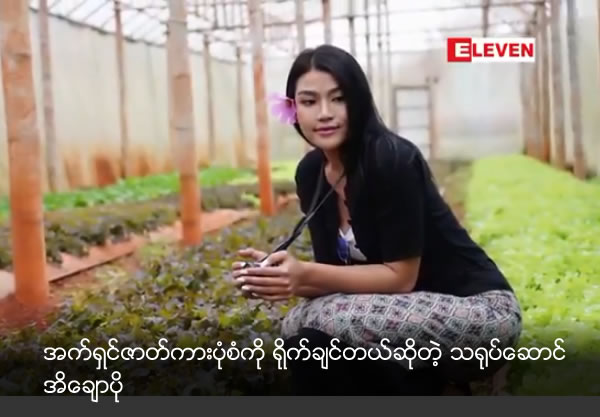Actress Ei Chaw Po want to act action