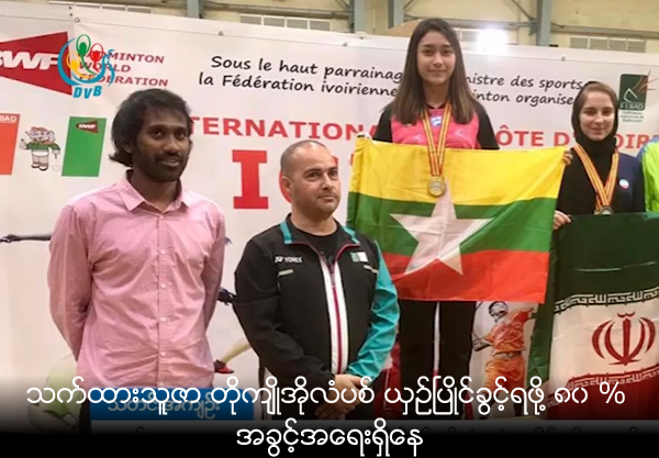 Thet Htar Thuzar has 80% chance to compete at the Tokyo 2020 Olympics