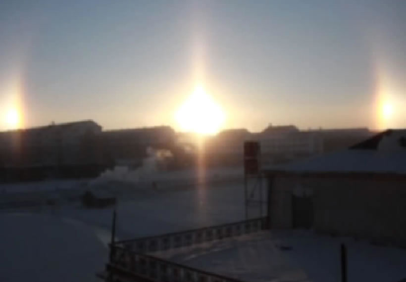 'Five suns' appear in China's Inner Mongolia