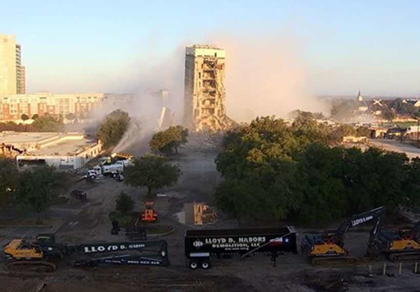 Failed building demolition creates the 'leaning tower of Dallas'