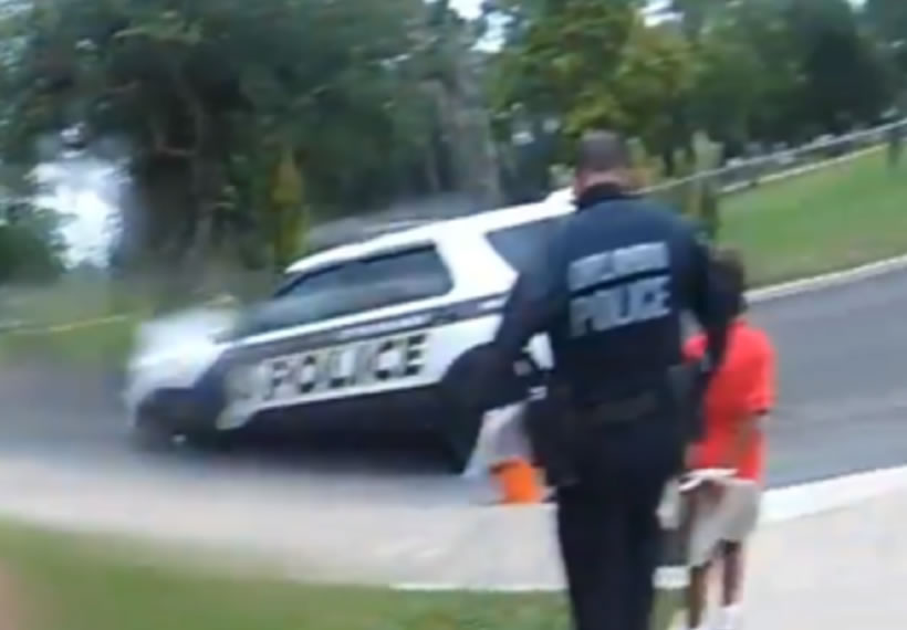 Video shows Florida officer arresting six-year-old after tantrum