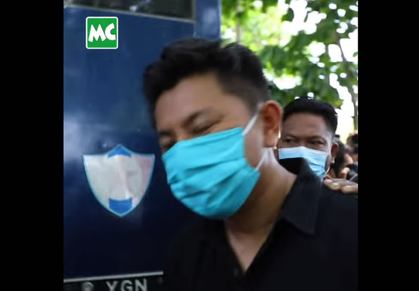 Actor Min Yar Zar appeared at the North Okkalapa District Court on May 07