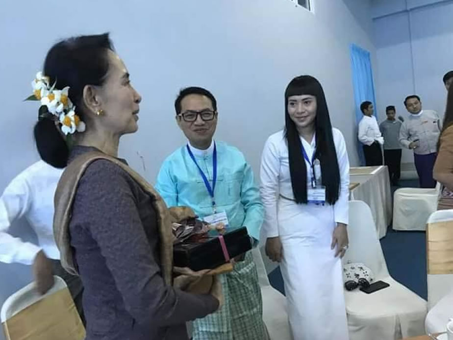 State Counsellor Attends Cash Donation Ceremony of Hnin Si Yin Gwin Social Support Foundation for Rakhine State Development