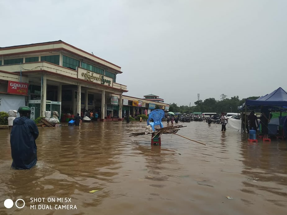 Recent condition of Naypyitaw Myoma Market 15.6.2018