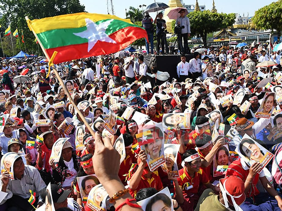Rallies Draw Thousands Nationwide in Support of State Counselor Defense of Myanmar at ICJ