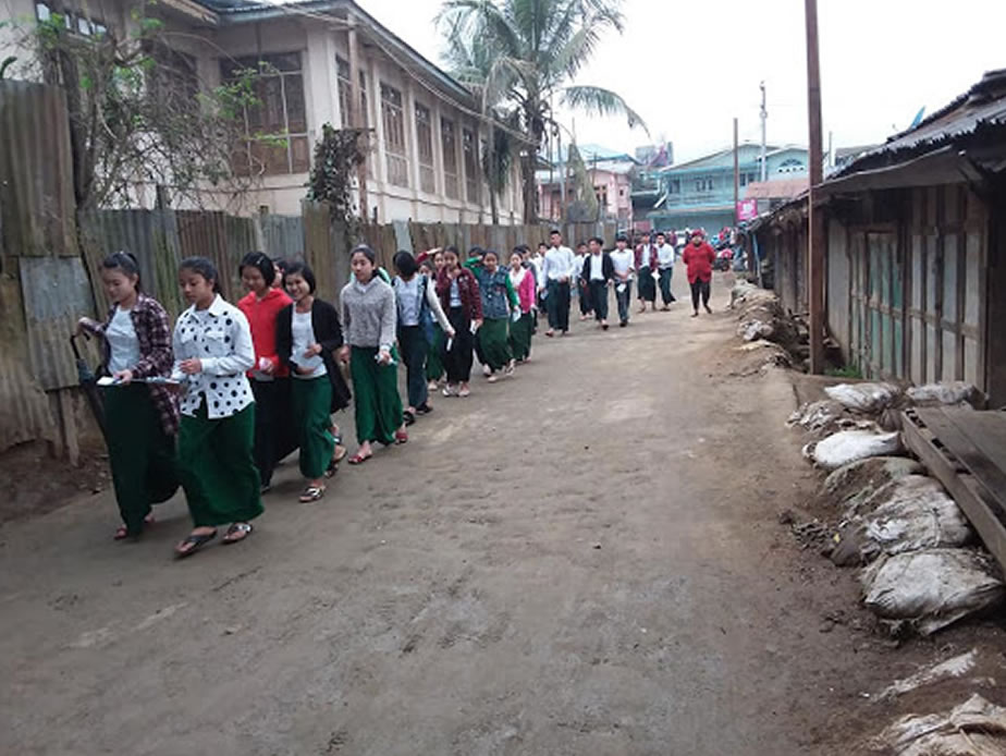 Students around Myanmar start Matriculation Exams